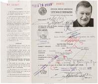89132 A John Wayne TwiceSigned Mexican Tourist ID Car
