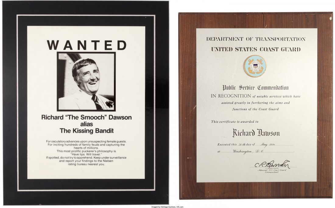 89154: A Richard Dawson Group of Awards, 1970s-1980s. N