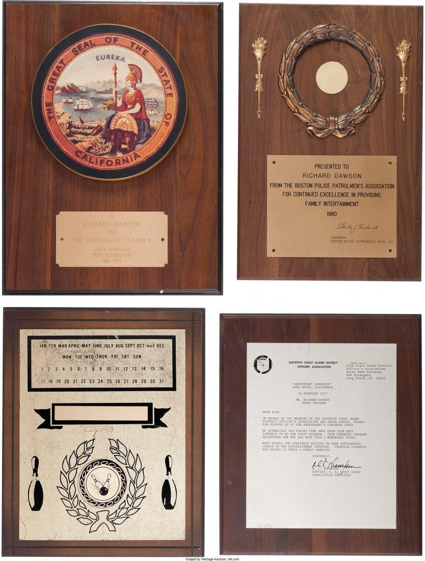 89154: A Richard Dawson Group of Awards, 1970s-1980s. N - 2