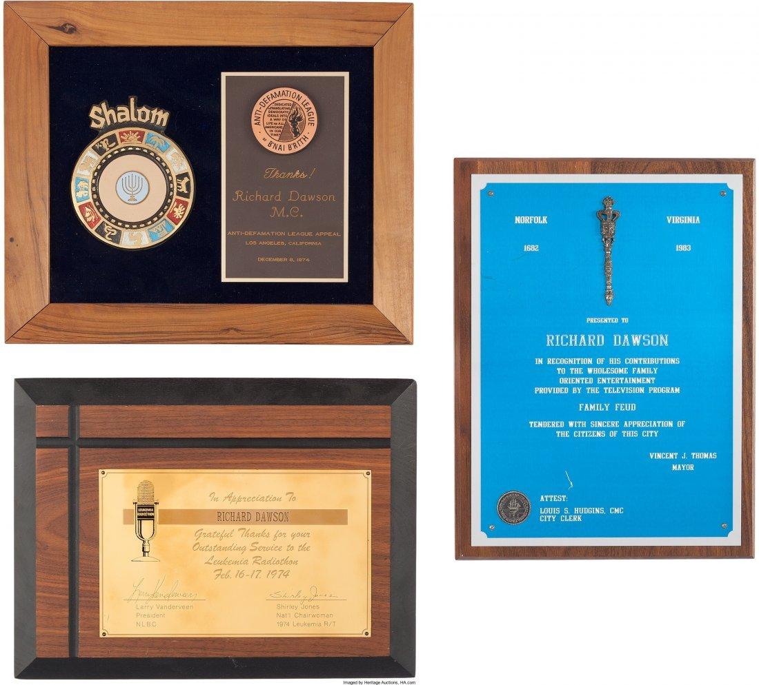 89154: A Richard Dawson Group of Awards, 1970s-1980s. N - 3