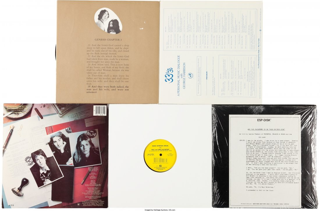 89582: John, Paul, George LP Group And Script Including - 2