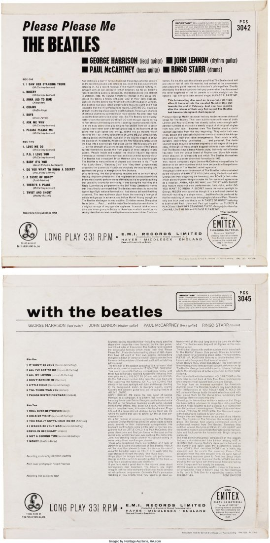 89586: Beatles - Please Please Me and With The Beatles  - 2
