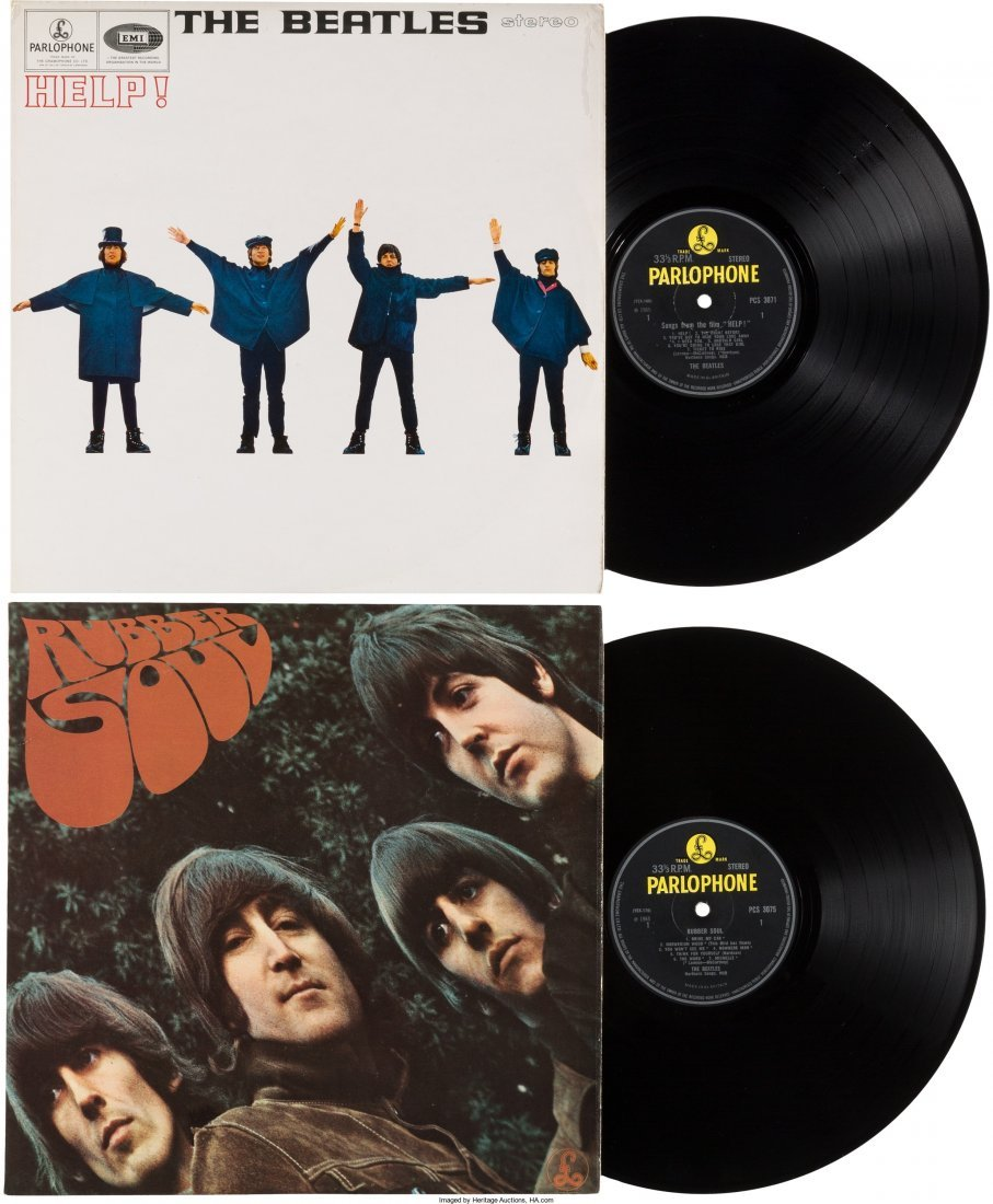 89588: Beatles - Help and Rubber Soul UK LP Group Late