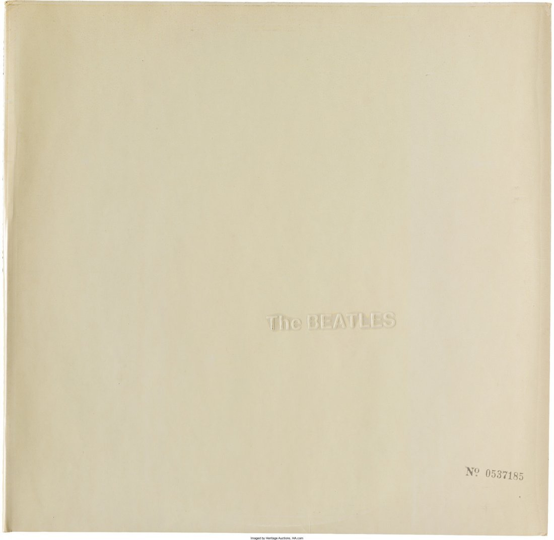 """89589: The Beatles (""""The White Album"""") Numbered 0537185"""