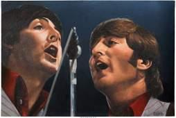 89341: Beatles - Summer Tour '66 Original Oil Painting