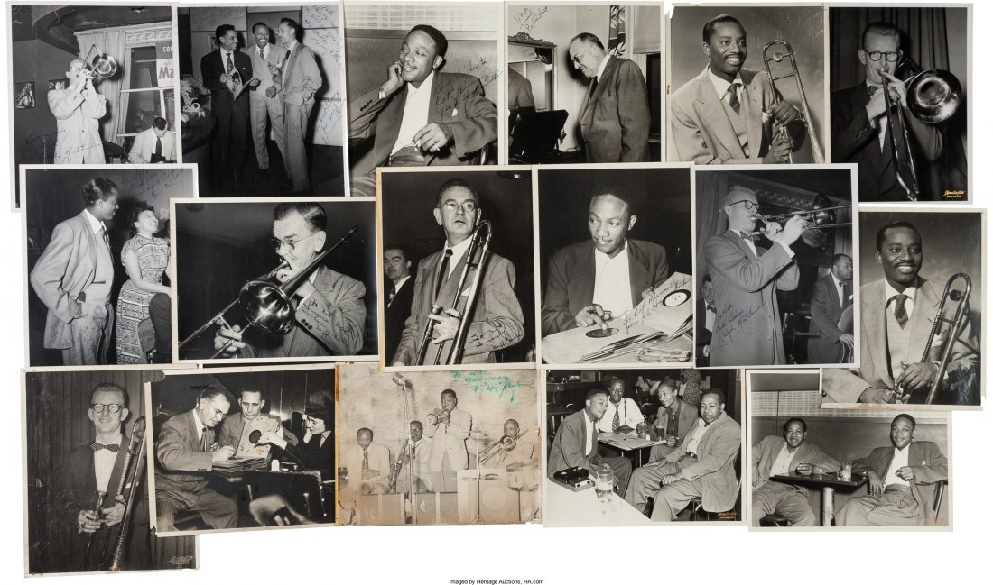 89616: Jazz - Group of Seventeen Signed Black and White