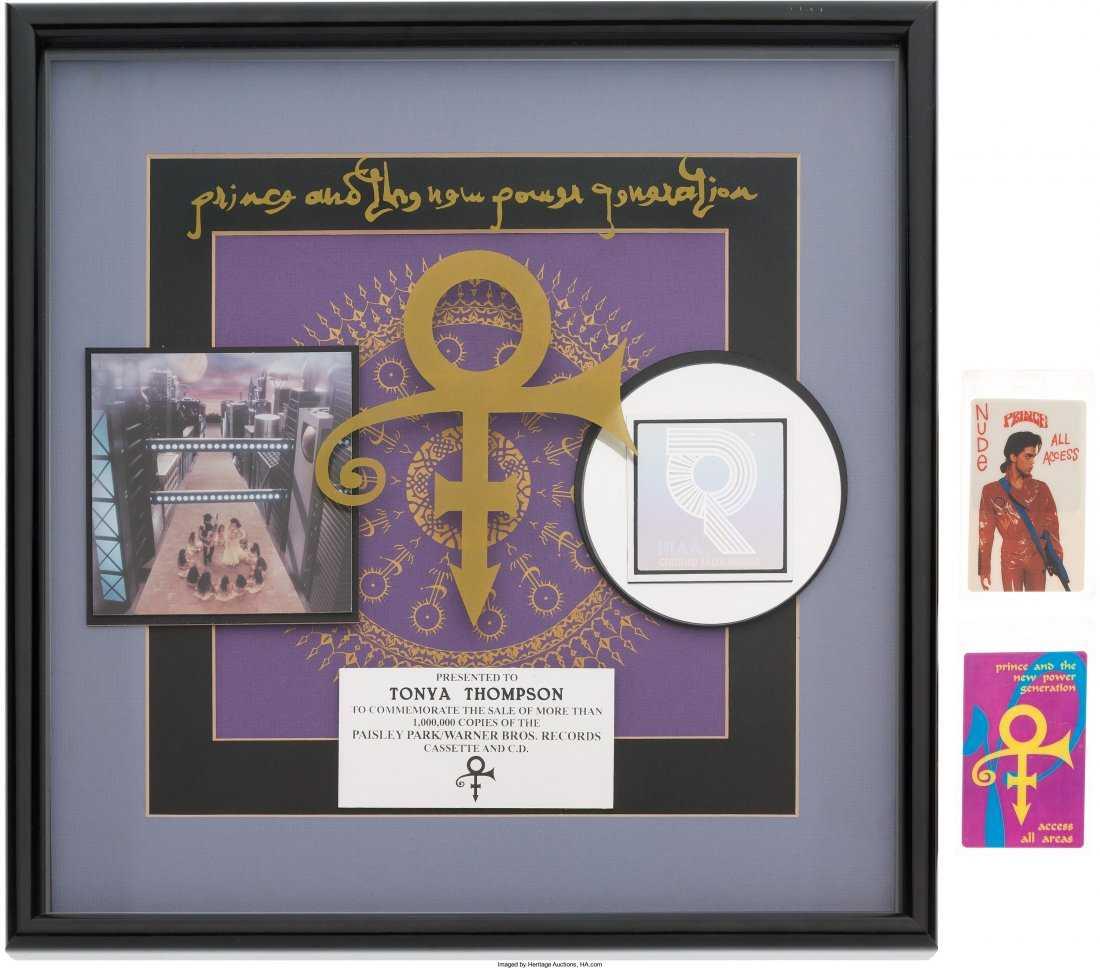 89550 Prince Love Symbol Album Riaa Hologram Platinu