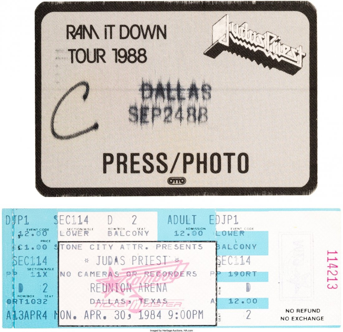 89619: Judas Priest/ Rob Halford Signed Love Bites Limi - 3