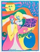 89286: Yardbirds Earl Warren Concert Poster (1968). Rar