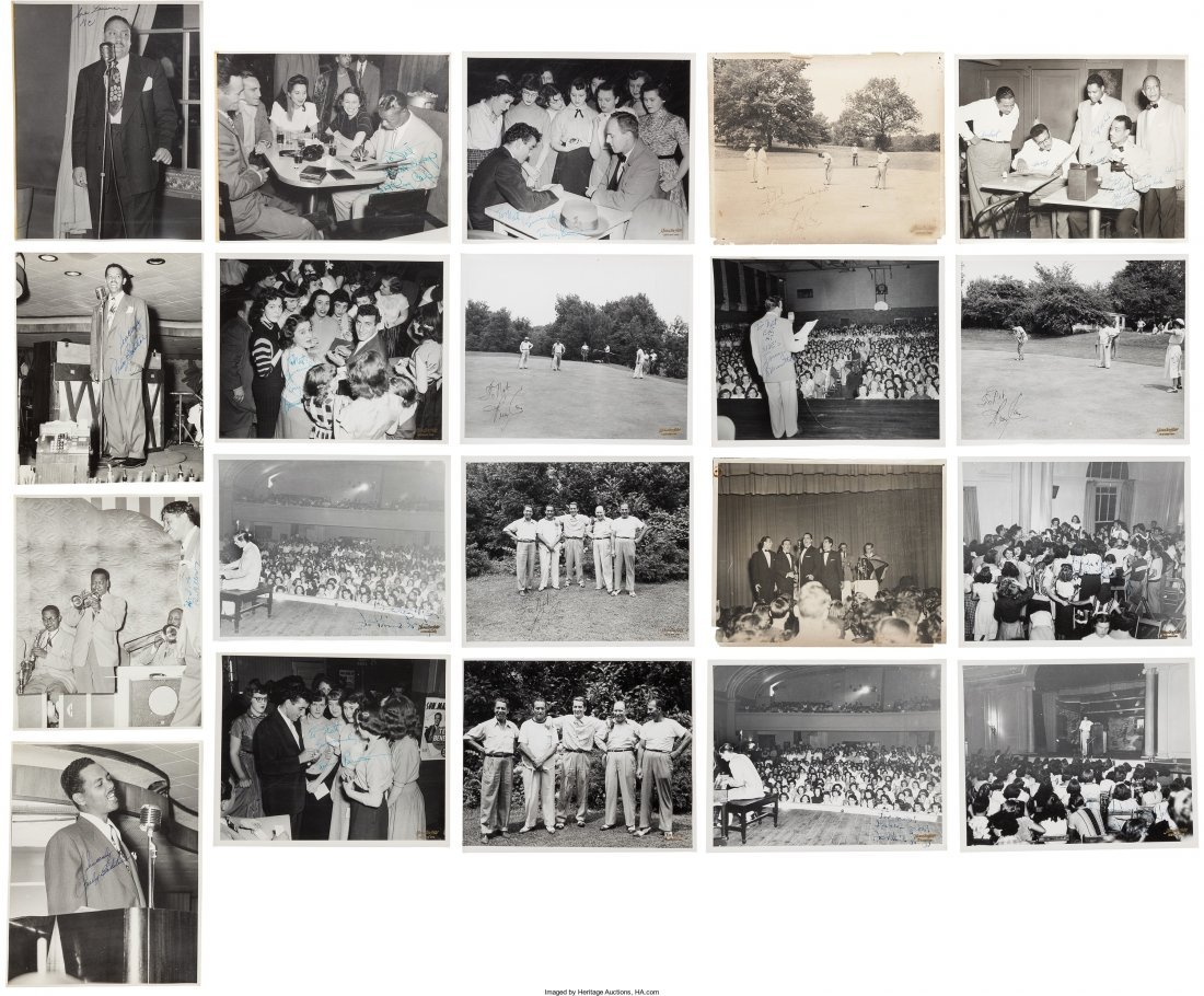 89466: Jazz - Twenty Signed Photographs Of Male Jazz Si
