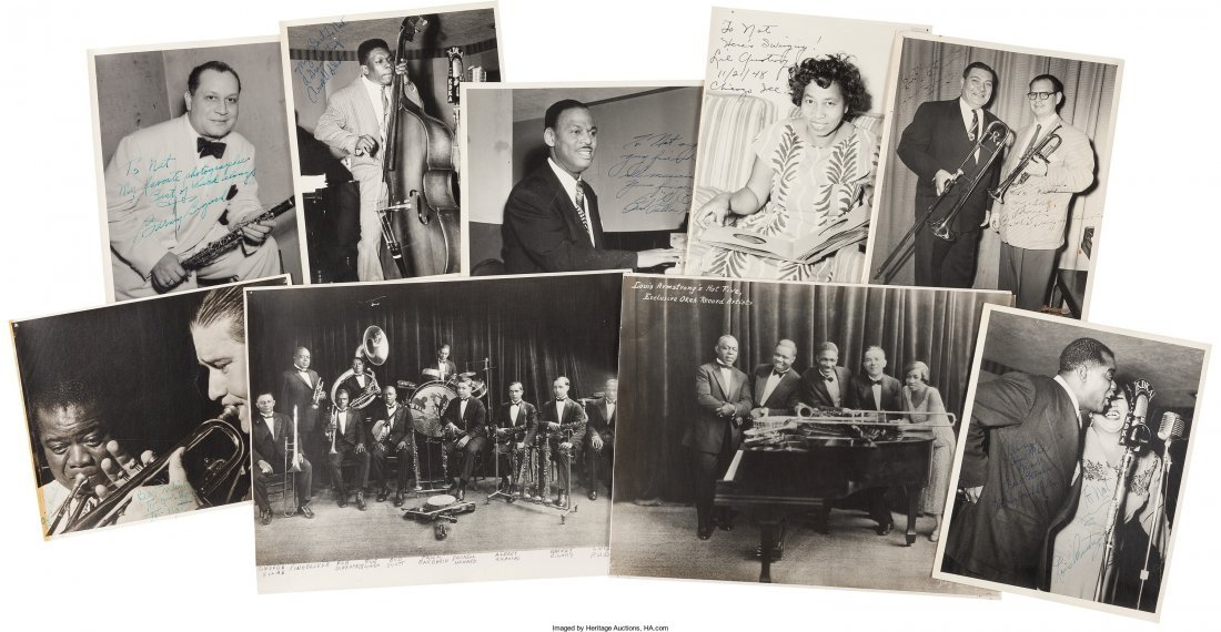 89469: Louis Armstrong Signed Photographs And Early Pho