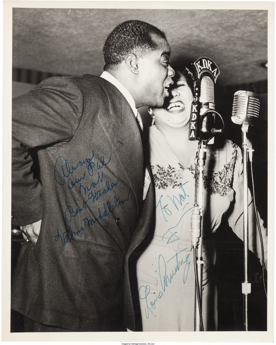 89469: Louis Armstrong Signed Photographs And Early Pho - 2