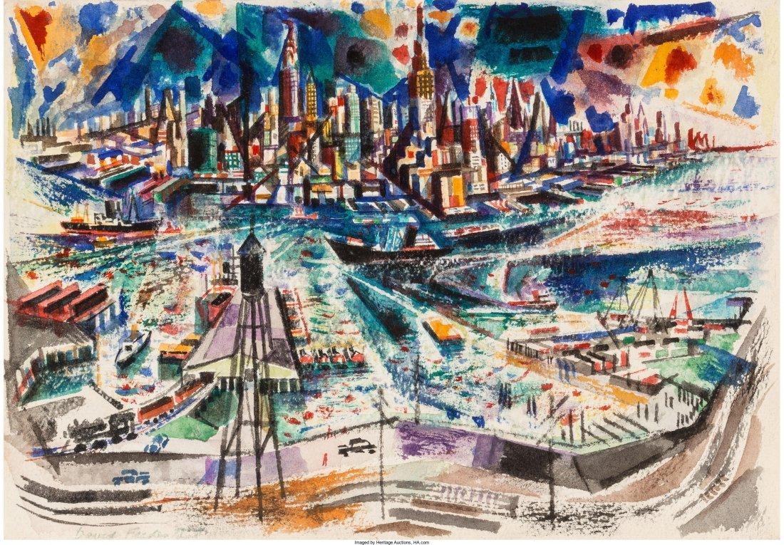 65002: David Fredenthal (American, 1914-1958) View of N