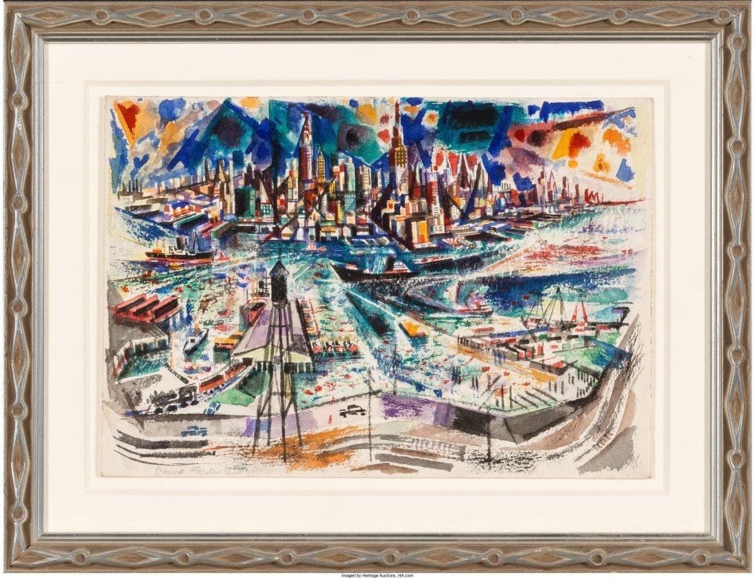 65002: David Fredenthal (American, 1914-1958) View of N - 2