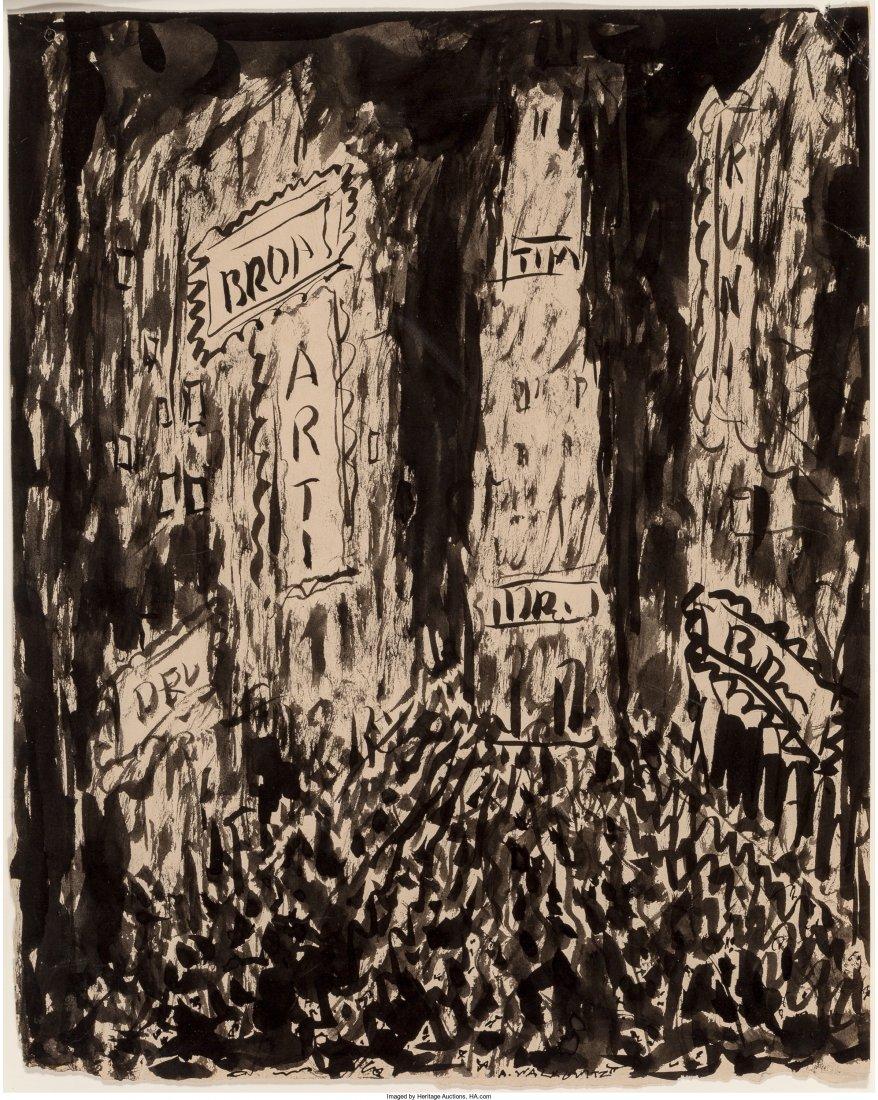 65003: Abraham Walkowitz (American, 1880-1965) Times Sq