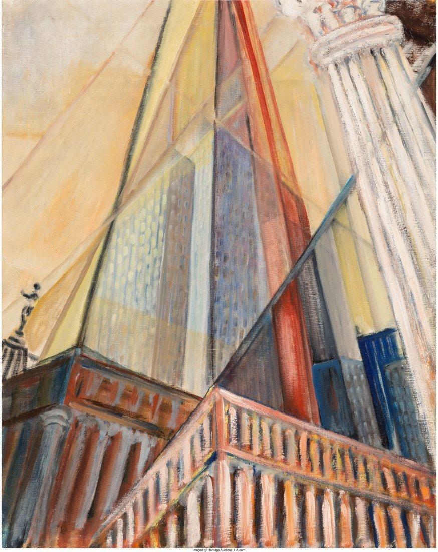 65009: Irving Weiner (American, 20th Century) Skyscrape