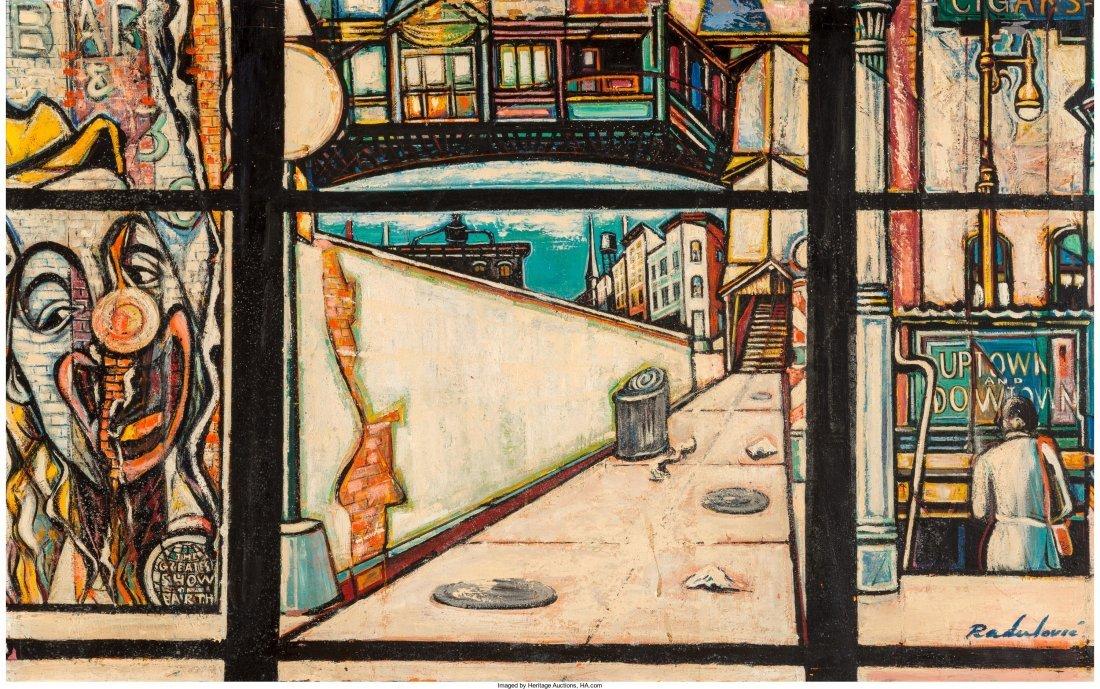 65010: Savo Radulovic (American, 1911-1991) City Street