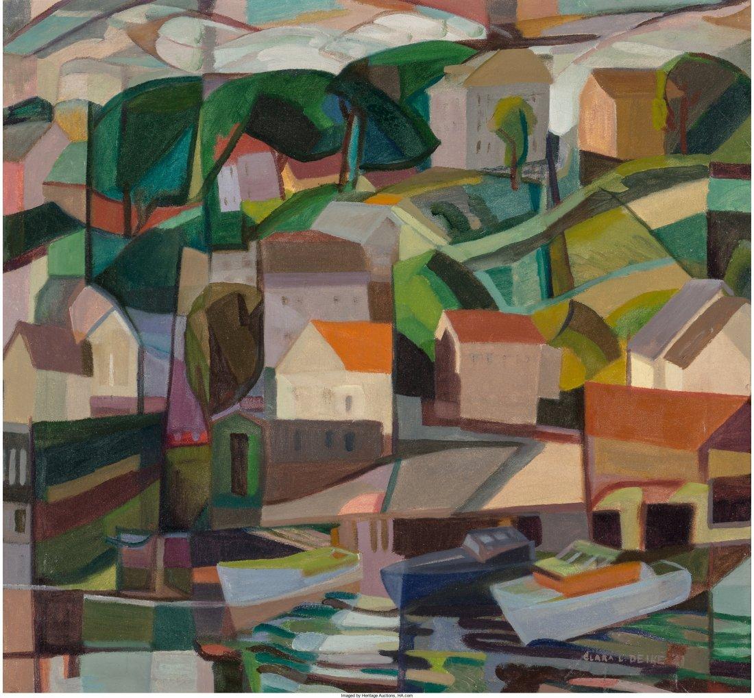 65297: Clara Deike (American, 1881-1964) The Harbor, 19