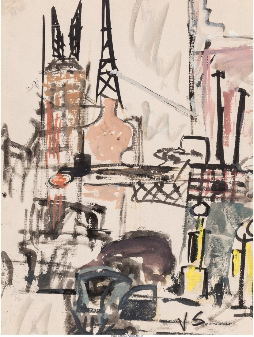 65012: Joseph Solman (American/Russian, 1909-2008) New