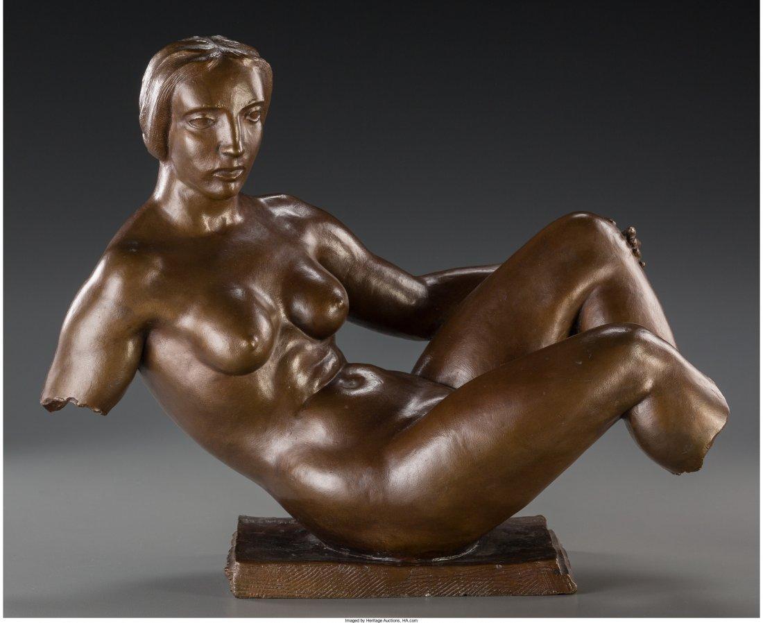 65125: Paul Fiene (American, 1899-1949) Reclining Nude