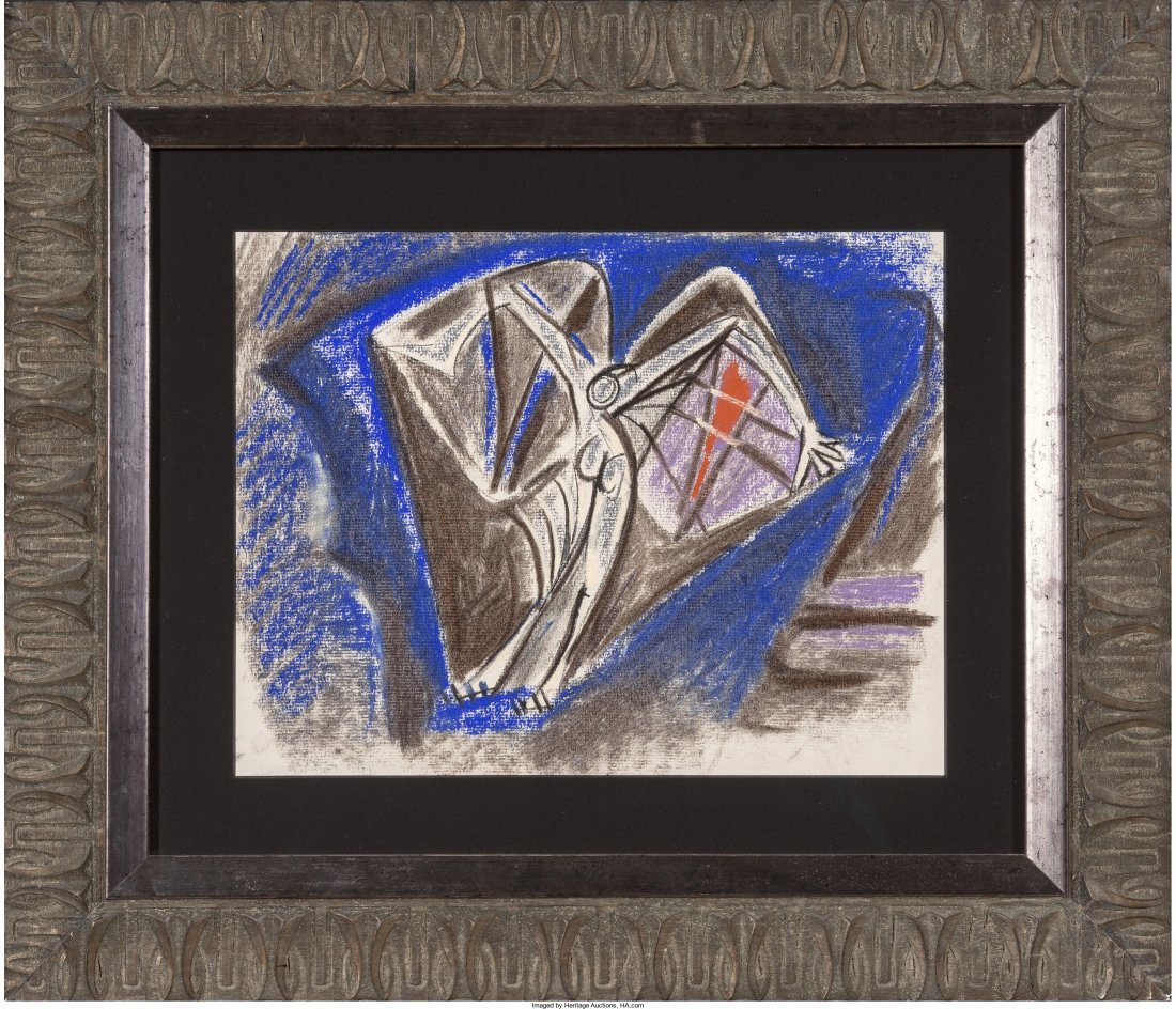 65327: André Masson (French, 1896-1987) Personnage Ail - 2