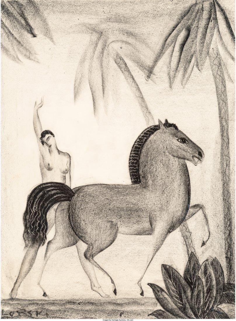 65036: Boris Lovet-Lorski (American, 1894-1973) Nude an