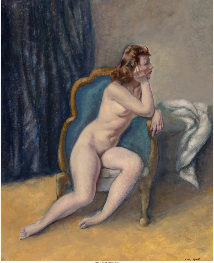 65249: Leon Kroll (American, 1884-1974) Nude on a Couch