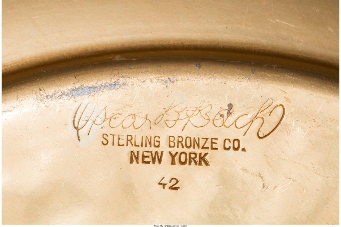 65059: An Oscar Bach Art Deco Gilt Aluminum Center Bowl - 2