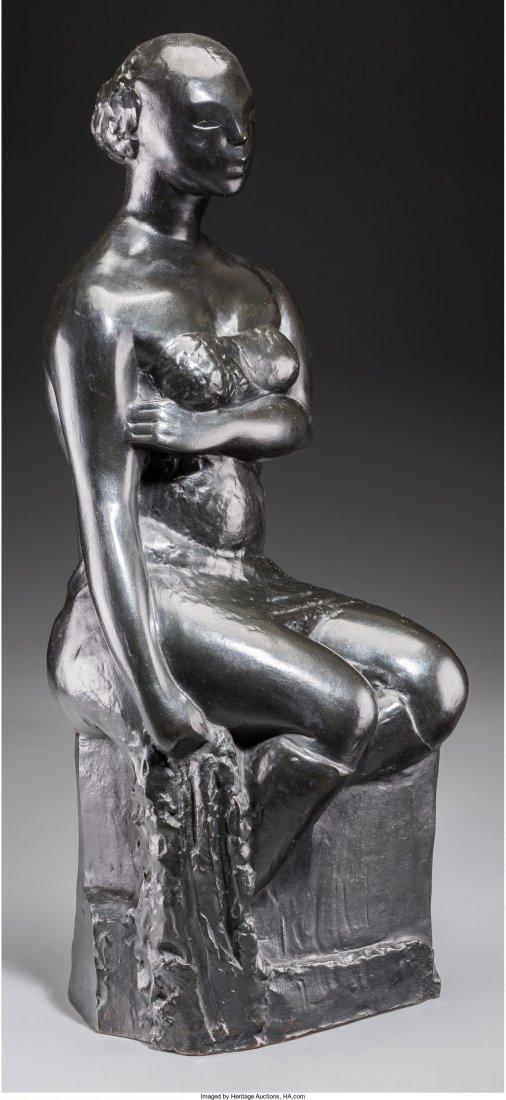 65257: Chana Orloff (French, 1878-1968) Femme Retenant
