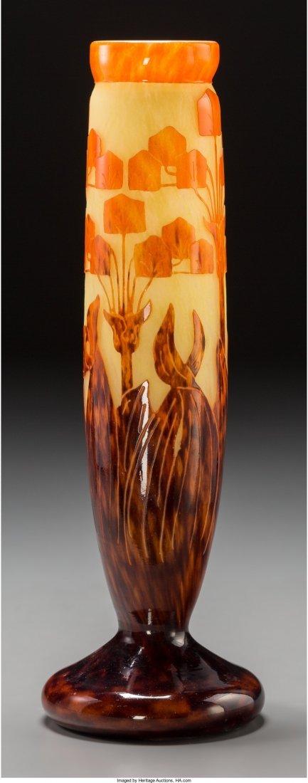 65060: A Schneider Le Verre Francais Vase, Épinay-sur-