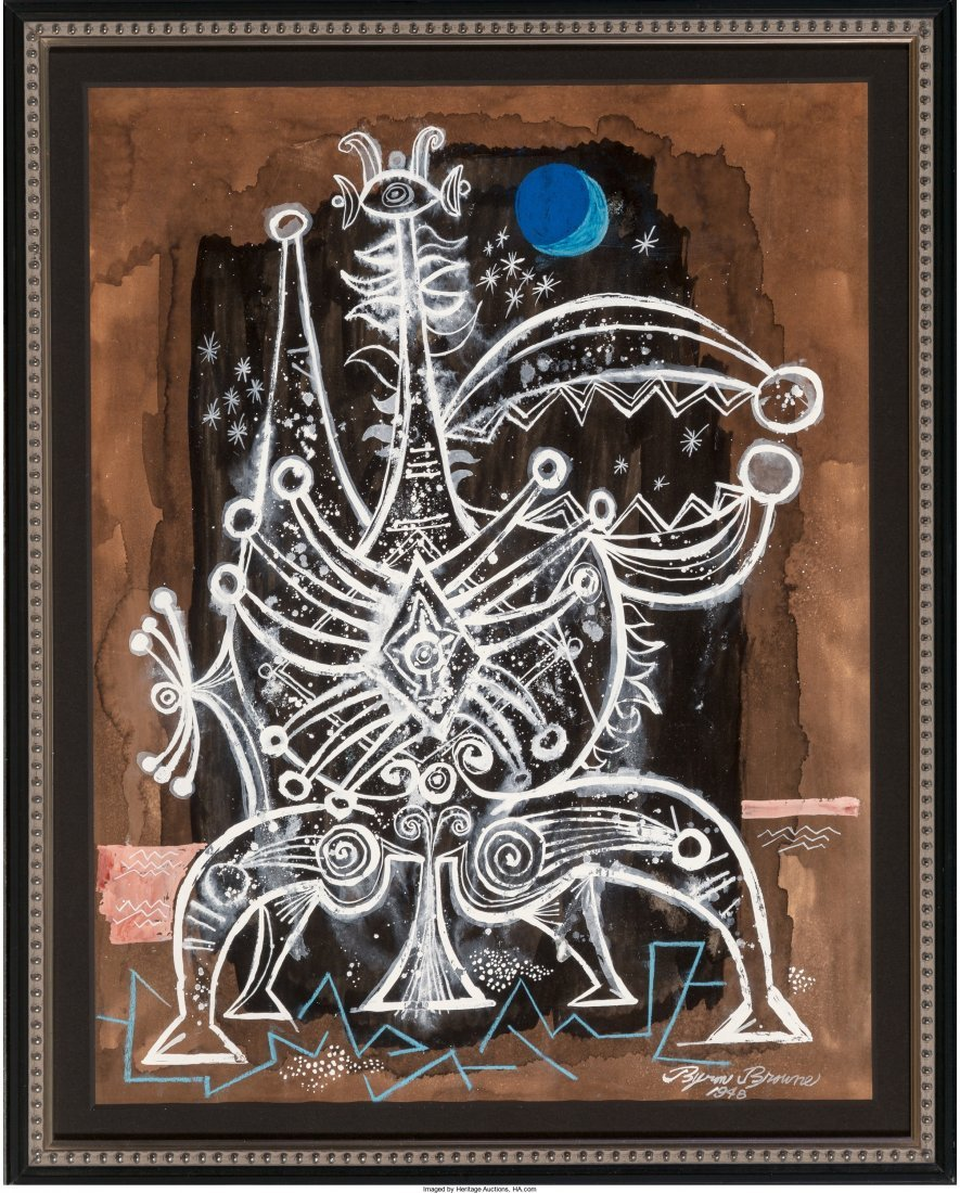 65273: Byron Browne (American, 1907-1961) Untitled, 194 - 2