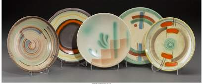 65584 Sixteen Assorted Spritzdekor Art Deco Ceramic Si