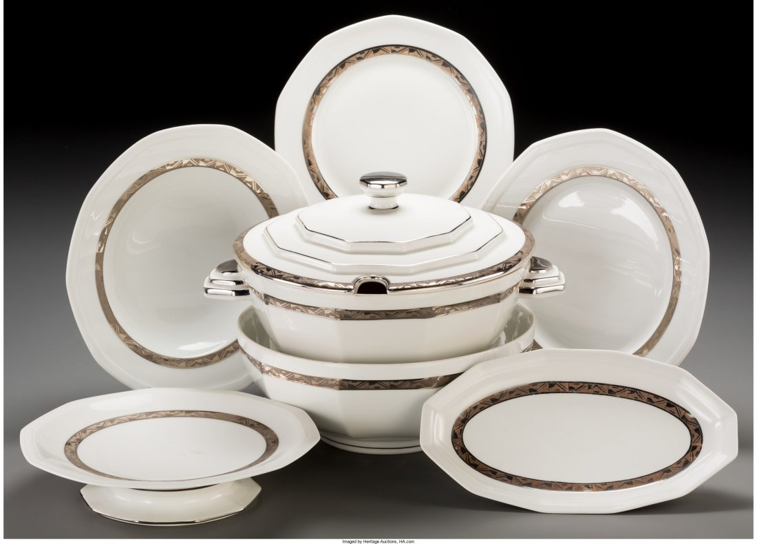 65599: A Forty-Five Piece Salmon & Co. Limoges Ceramic