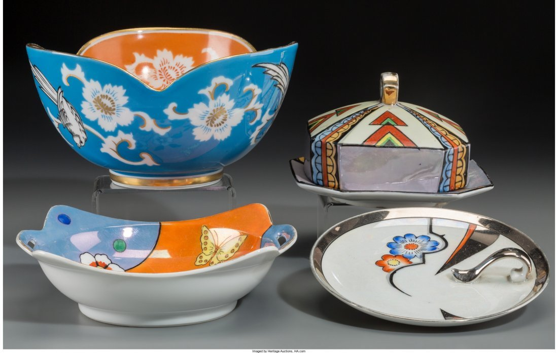 65529: A Group of Four German and Japanese Lustreware a
