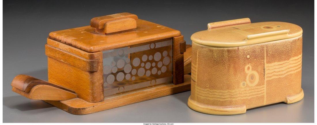 65794: Two Art Deco Table Caskets, circa 1930 4-3/4 inc