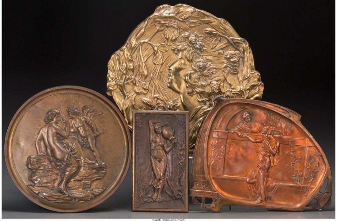 65850: Four Art Nouveau and Neoclassical Gilt Bronze, P