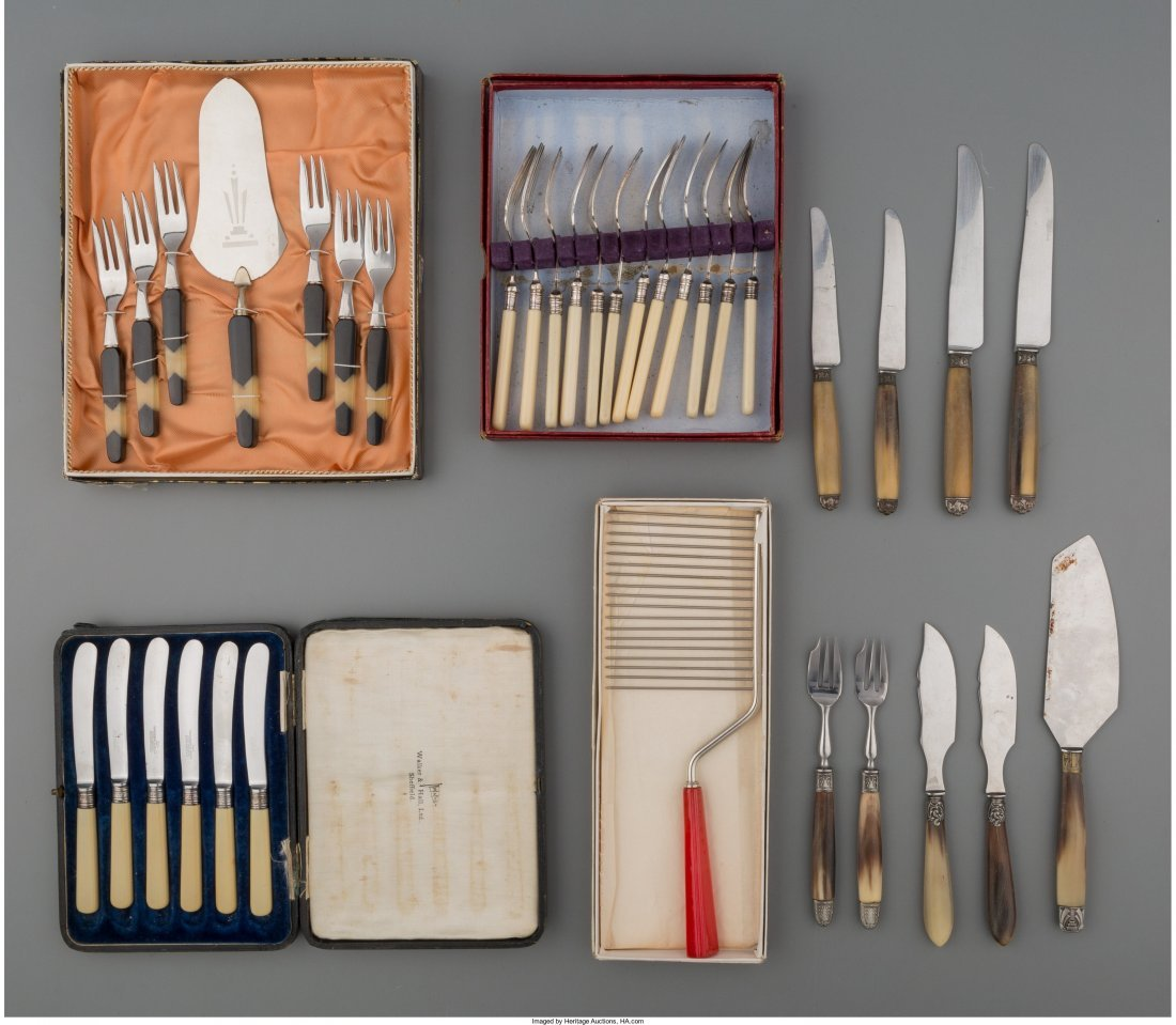 65930: Forty Assorted Pieces of Flatware, 20th century