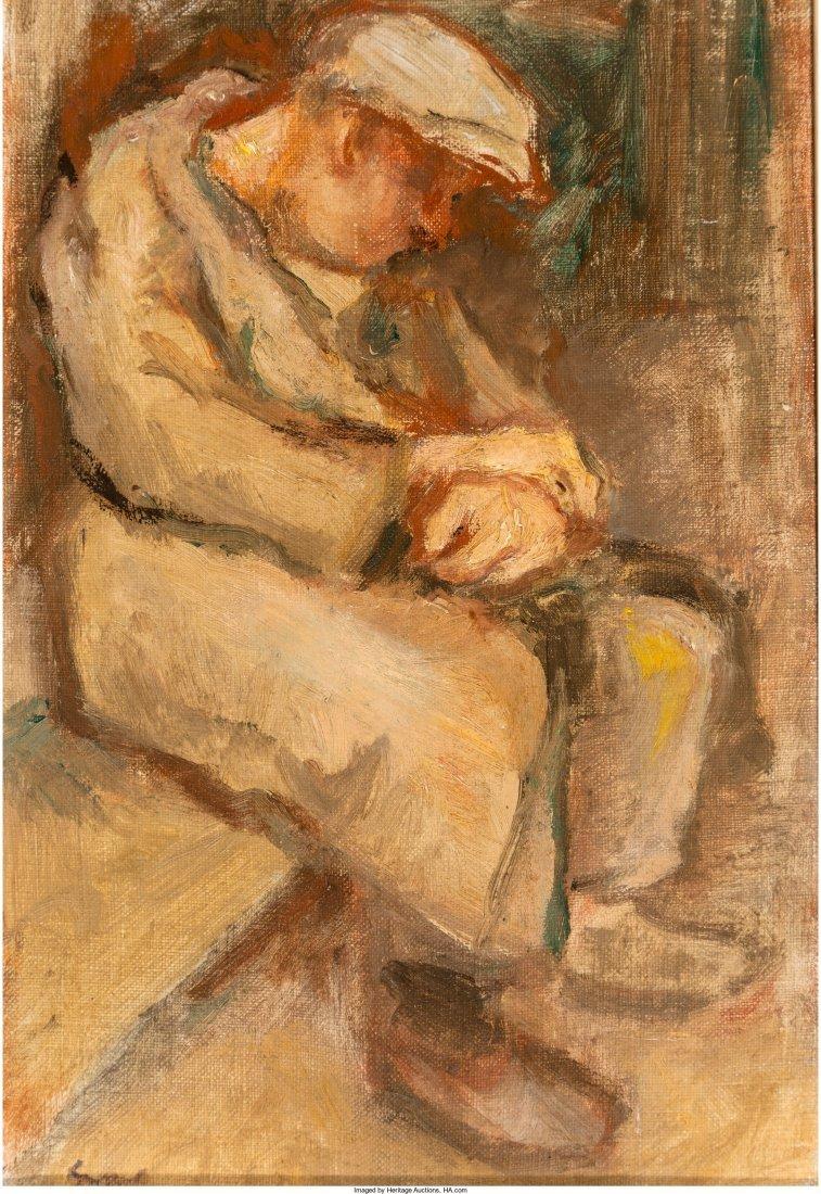 66098: Bernard Gussow (American, 1881-1957) Seated Male