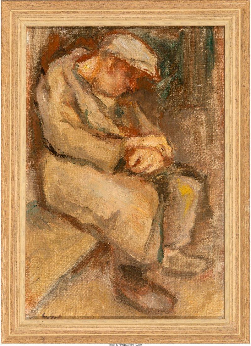 66098: Bernard Gussow (American, 1881-1957) Seated Male - 2