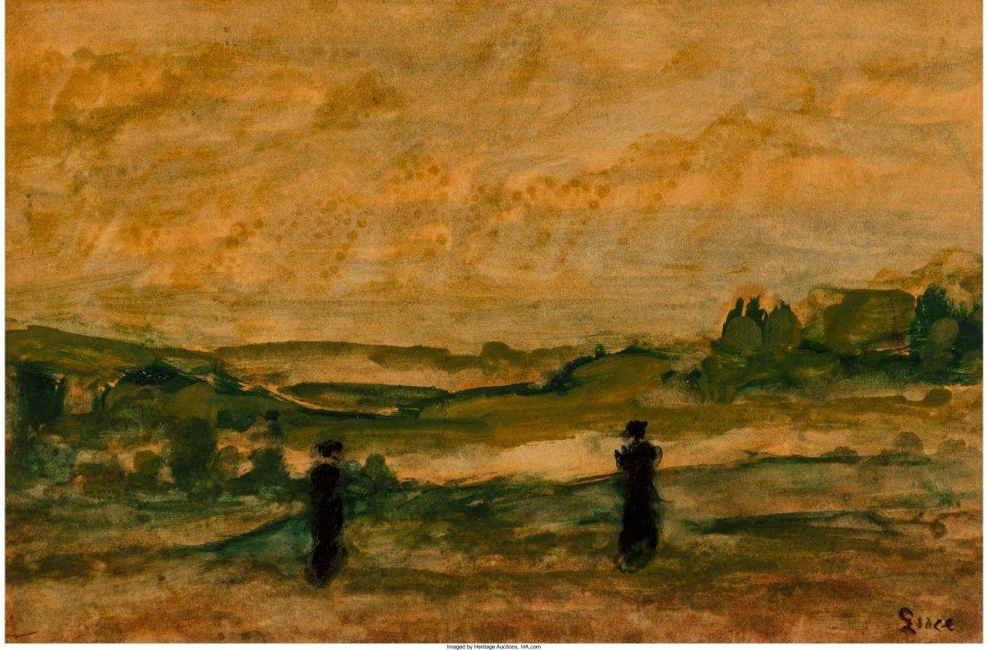66116: Maximilien Luce (French, 1858-1941) Pastoral Lan