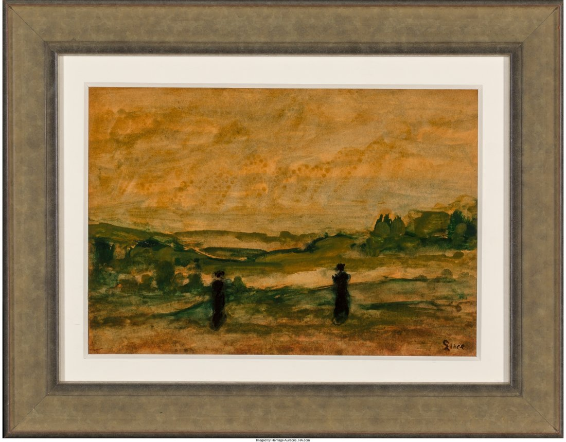 66116: Maximilien Luce (French, 1858-1941) Pastoral Lan - 2