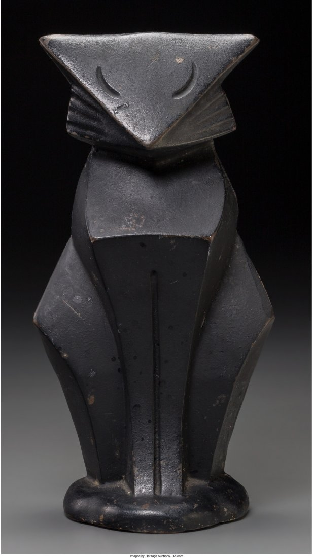 66259: A Hubley Art Deco Painted Cast Iron Cat, first h