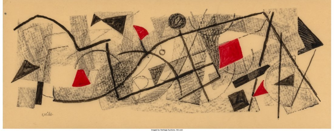66252: Urban Weiss (American, 1892-1955) Geometric Comp
