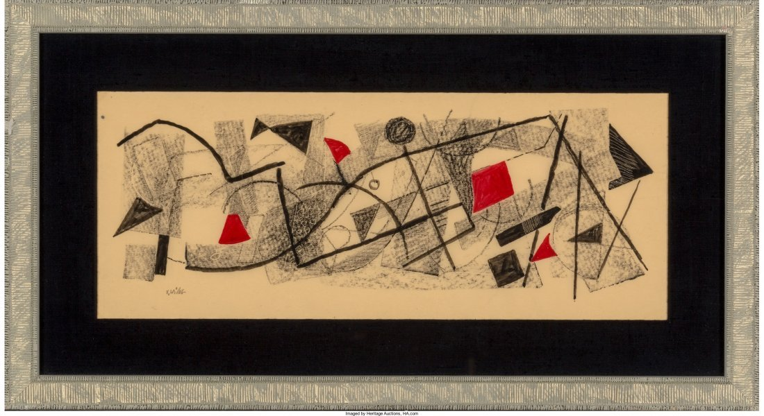 66252: Urban Weiss (American, 1892-1955) Geometric Comp - 2