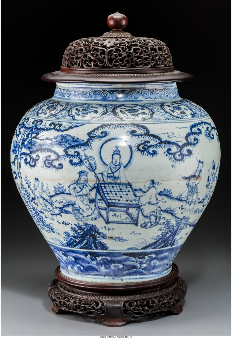 78119: A Large and Rare Chinese Blue and White Porcelai