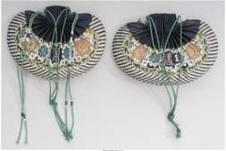 78225 A Pair of Chinese Embroidered Silk Purses Repub