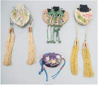 78226 Four Chinese Embroidered Silk Purses Republic P
