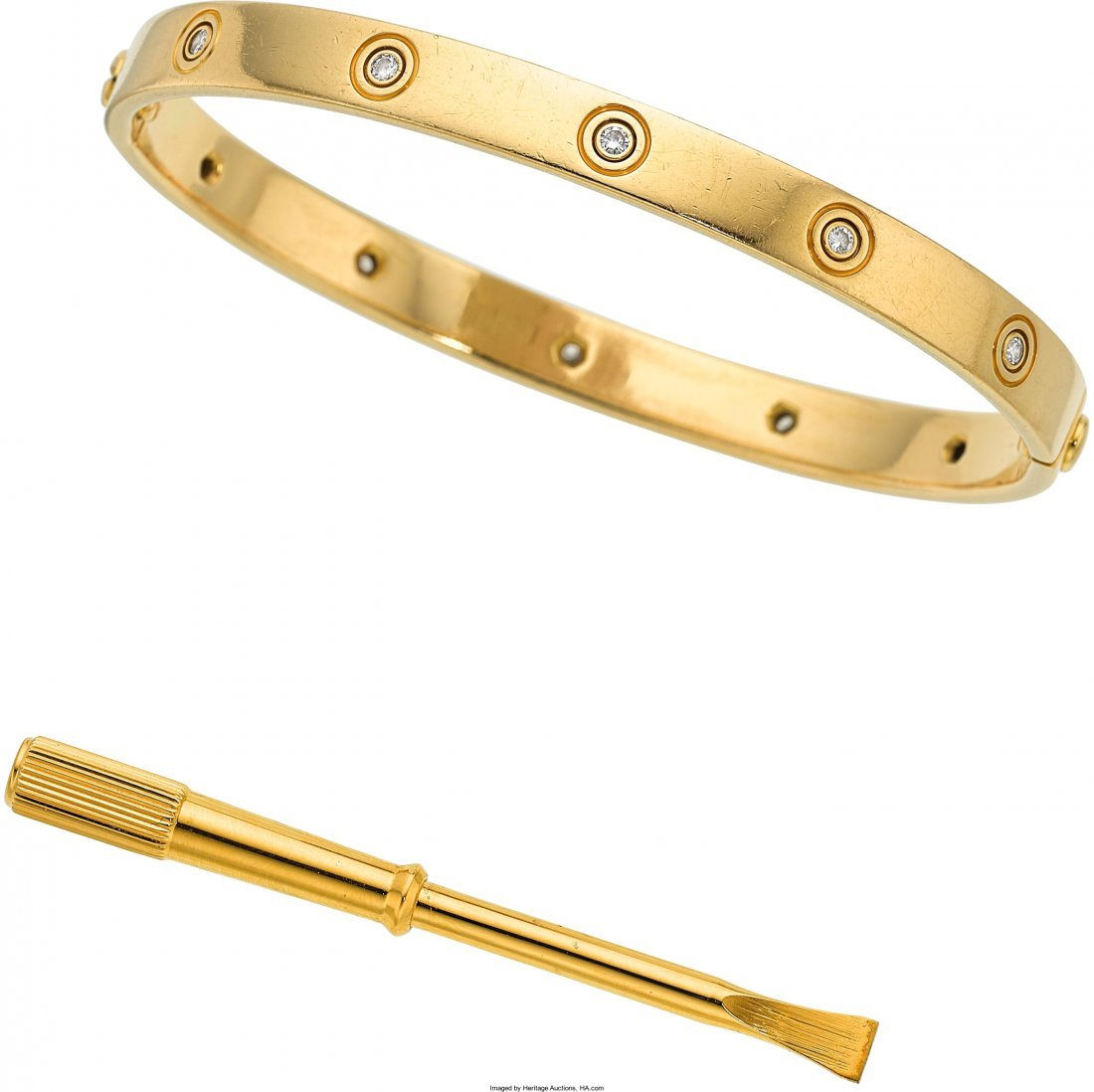 55003: Diamond, Gold Bracelet, Cartier  The Love bracel