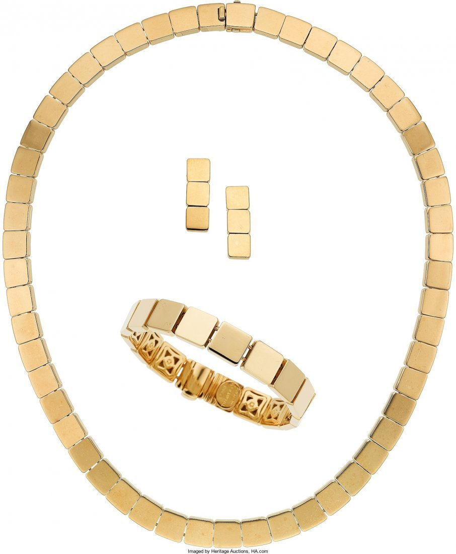 55004: Gold Jewelry Suite, Tiffany & Co.  The 18k gold