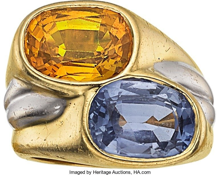 55017: Sapphire, Gold Ring, Giovane  The ring features